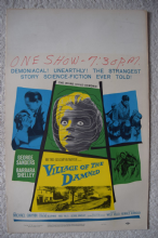Village of the Damned, US Window card, George Sanders, Barbara Shelley, '60